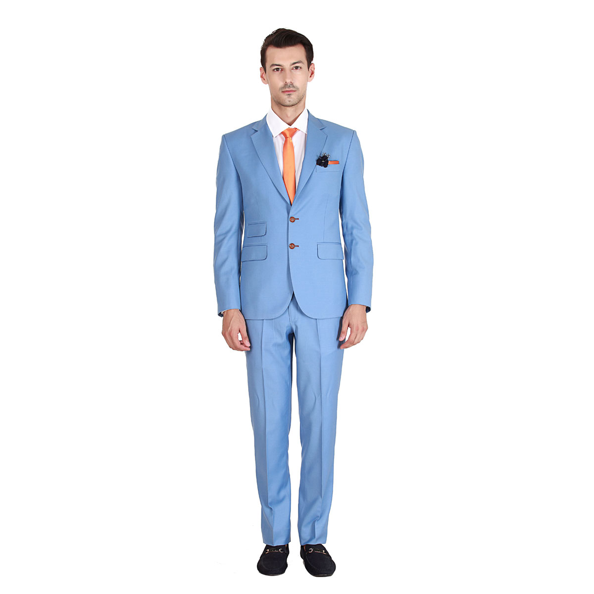 Men's Sky Blue Suit - Premium Bespoke Suits Online. Men's Clothing ...