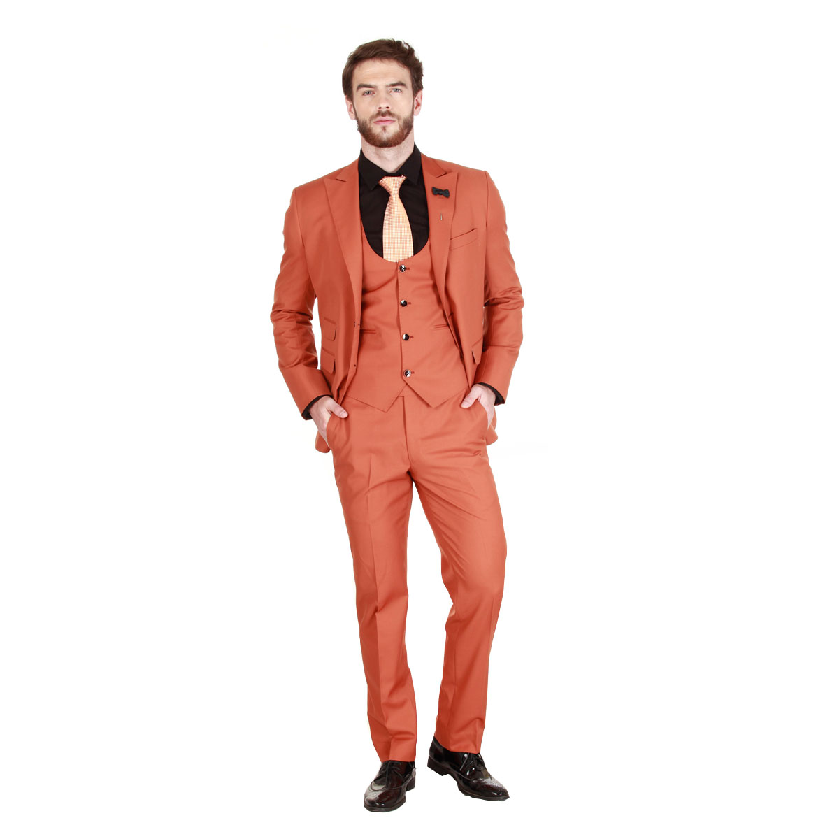 Royal Orange Suit - Premium Bespoke Suits Online. Men's Clothing ...