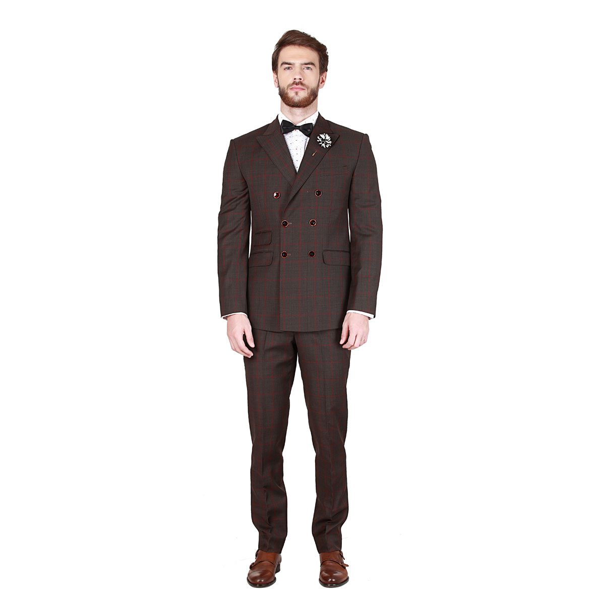 Top Spirits Brown Suit - Premium Bespoke Suits Online. Men's