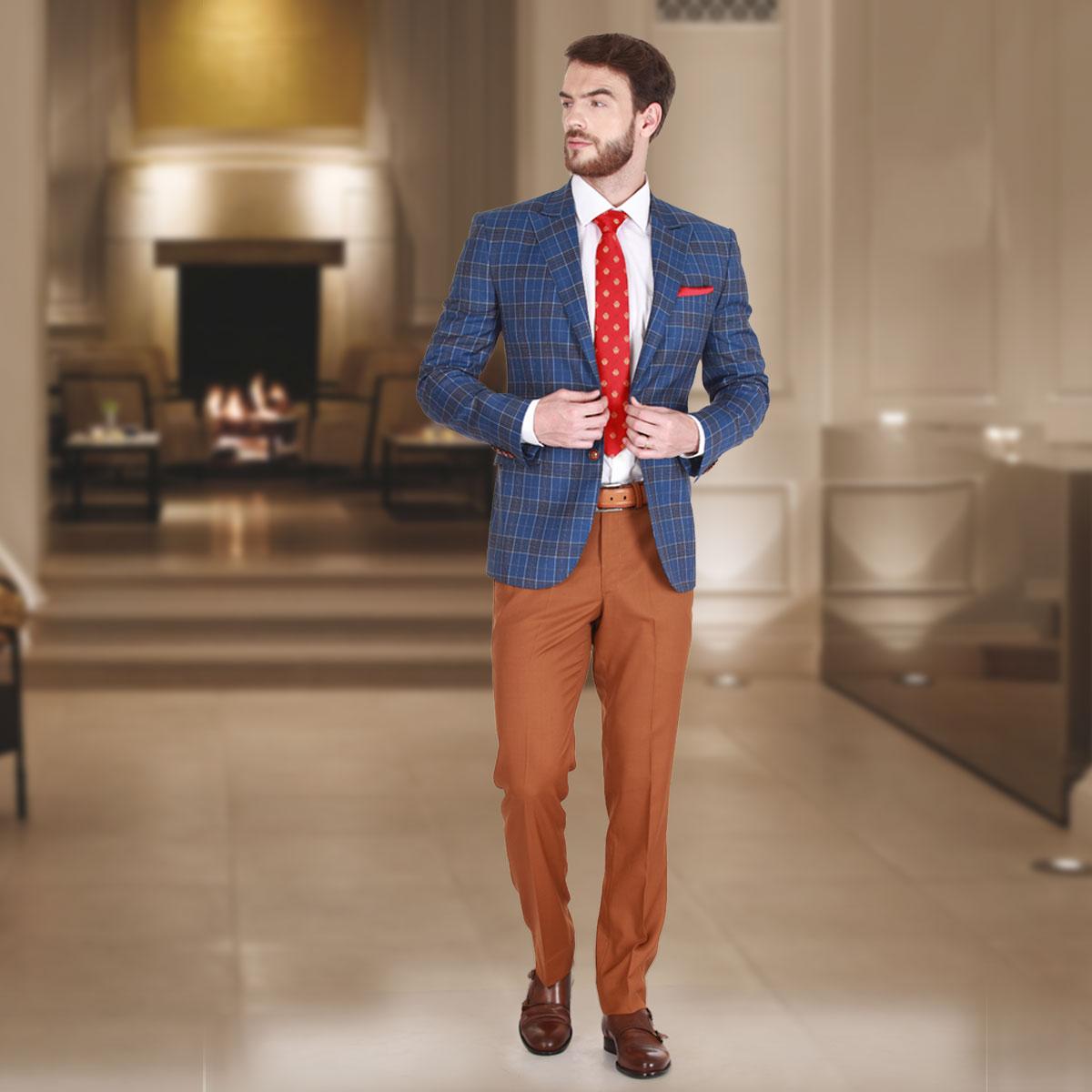 Blue Stripe Blazer - Premium Bespoke Suits Online. Men's Clothing ...