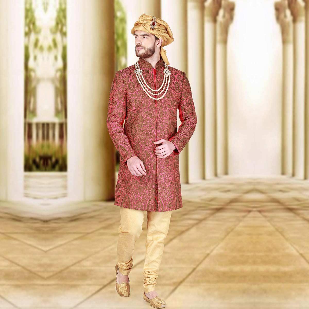 Fall In Love Sherwani - Premium Bespoke Suits Online. Men's ...