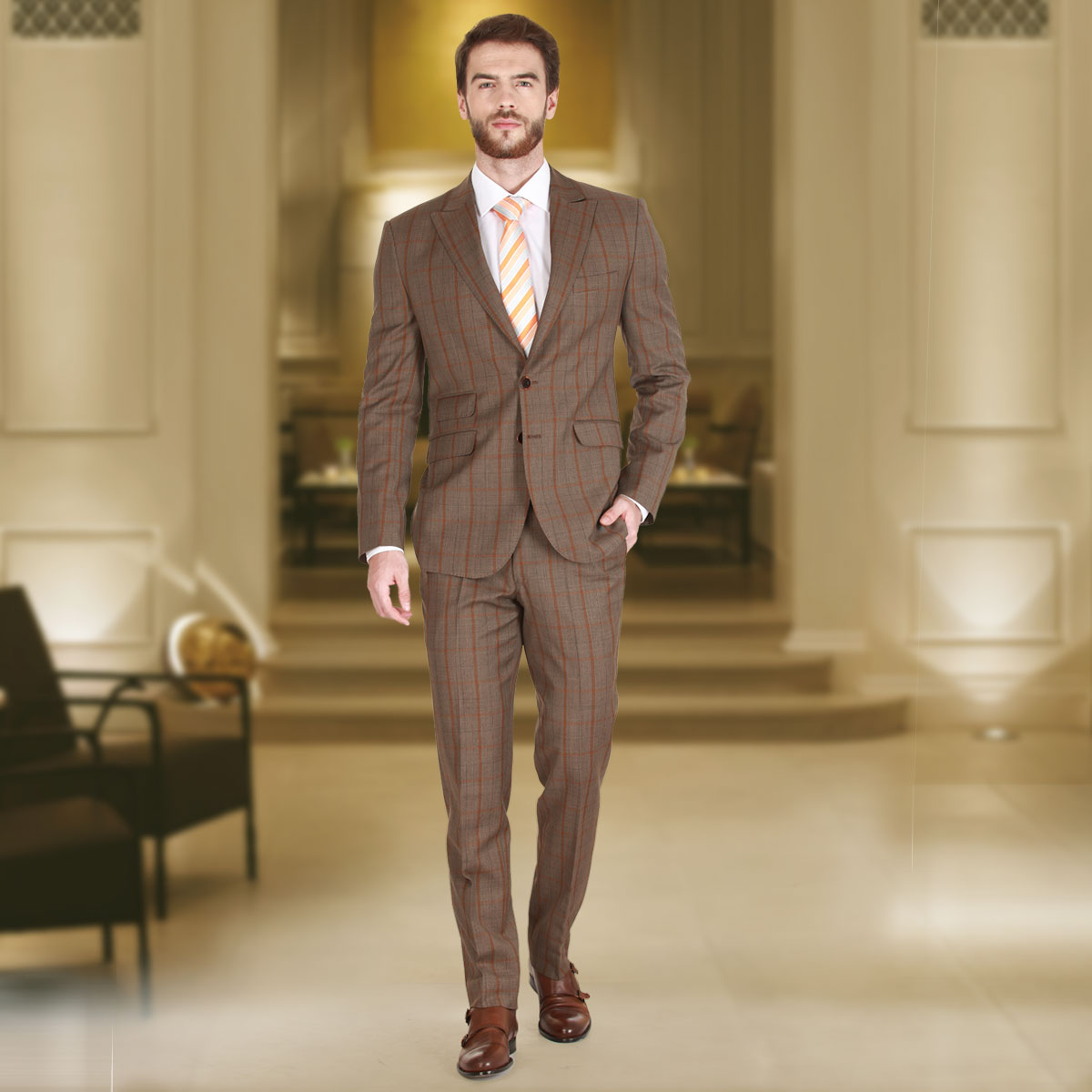 Rich Brown Suit - Premium Bespoke Suits Online. Men's Clothing ...