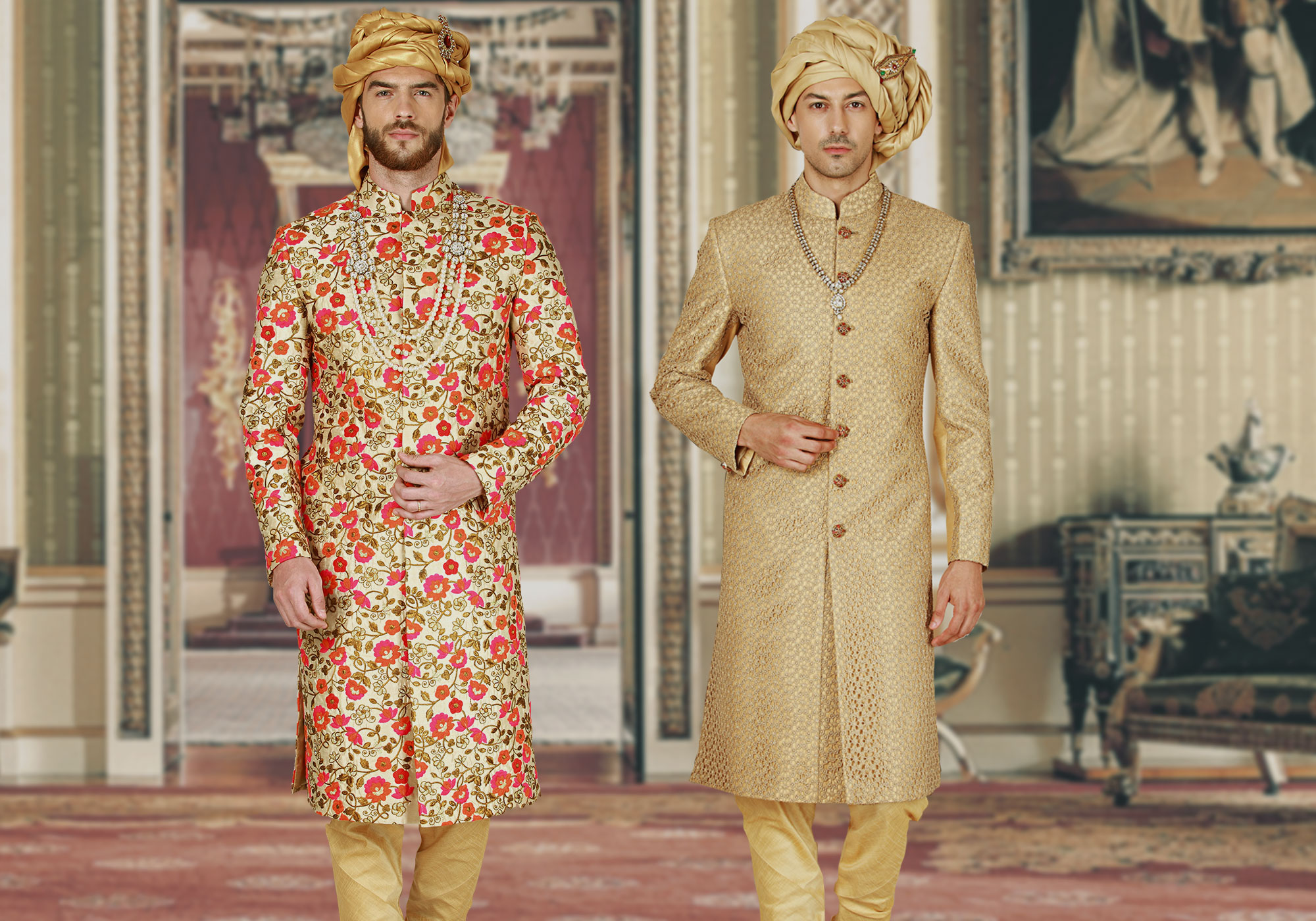 Majestic Sherwanis. For The Royal You.