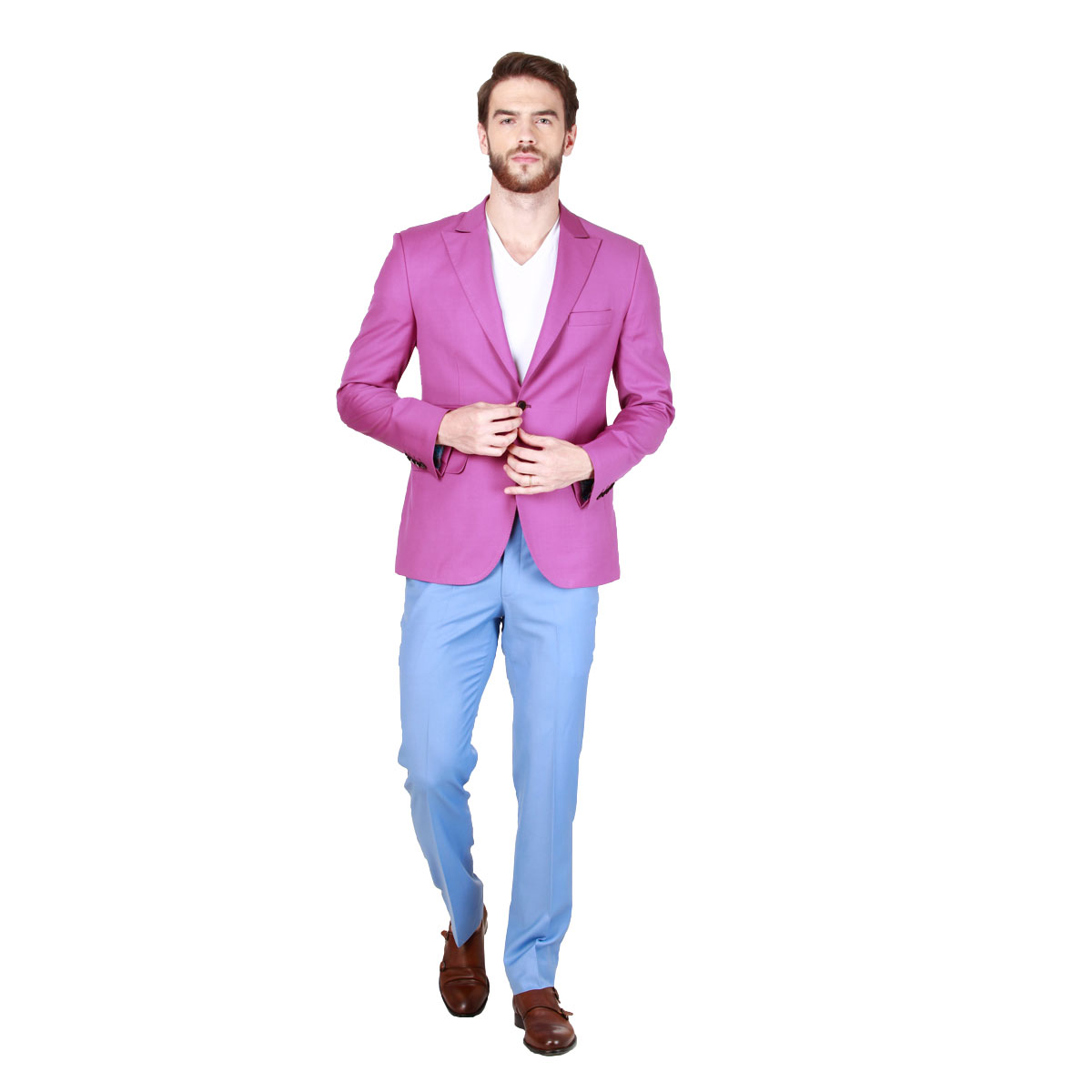 In The Pink Blazer - Premium Bespoke Suits Online. Men's Clothing ...