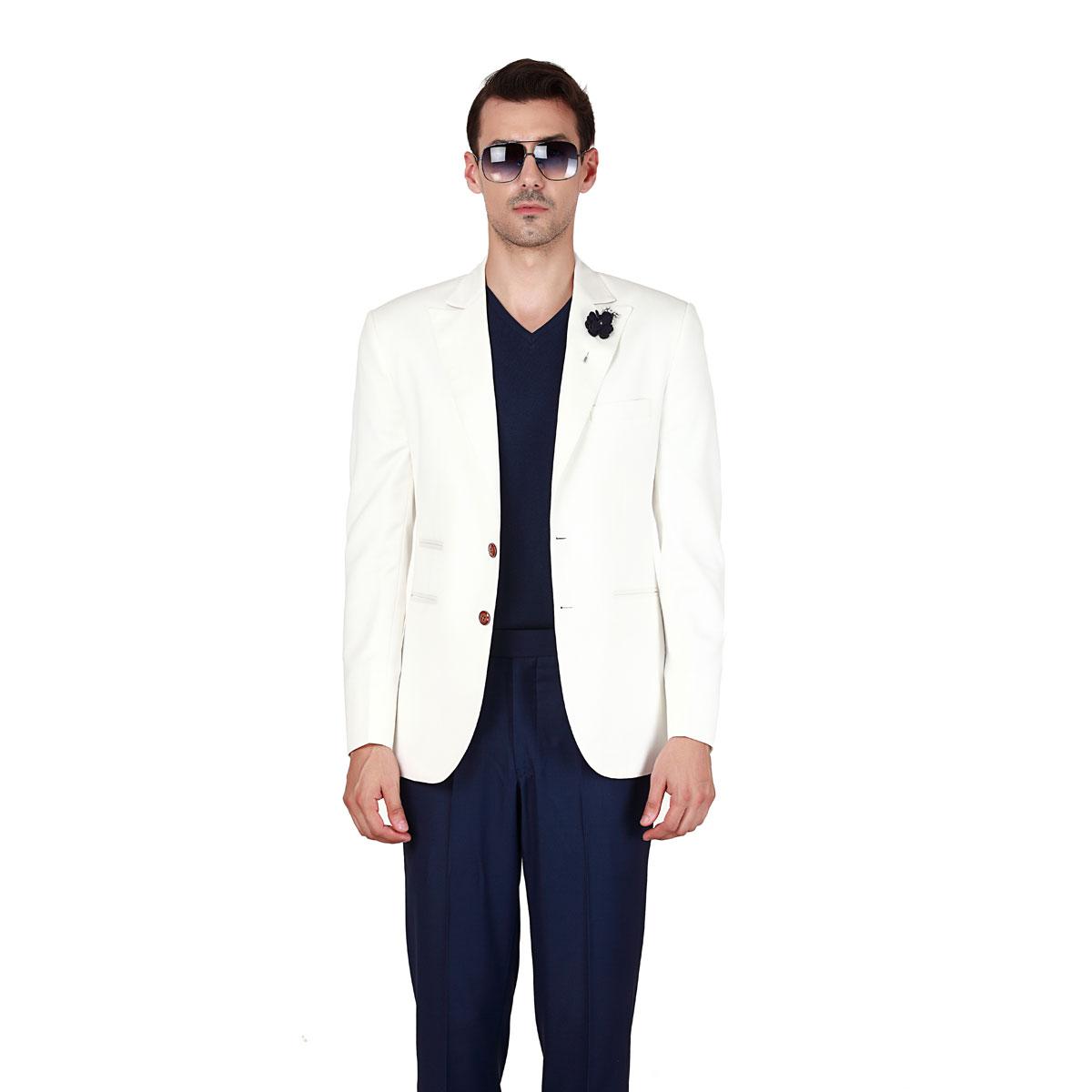 White Blazer - Premium Bespoke Suits Online. Men's Clothing Stores ...