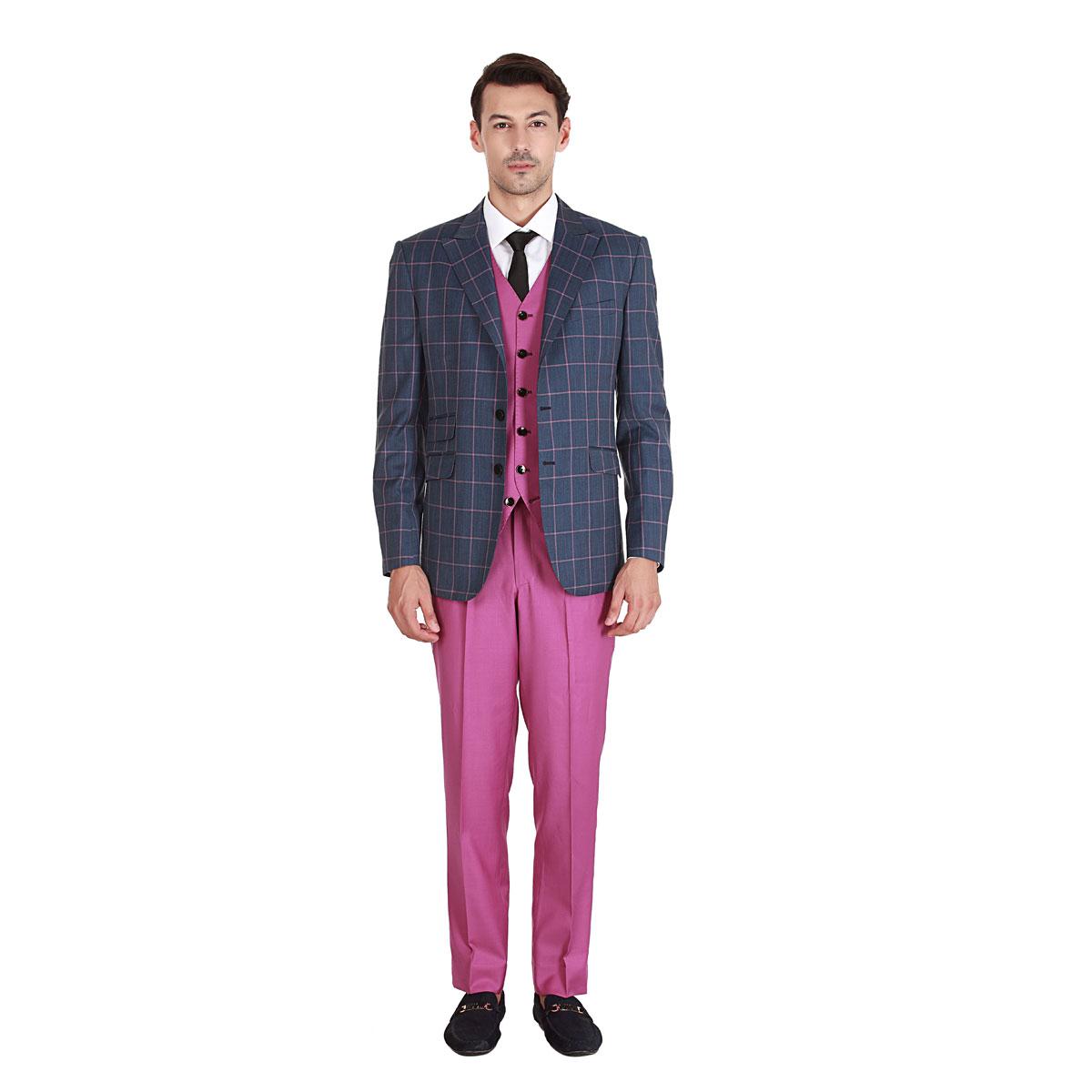 Blue Euphoria Blazer - Premium Bespoke Suits Online. Men's ...