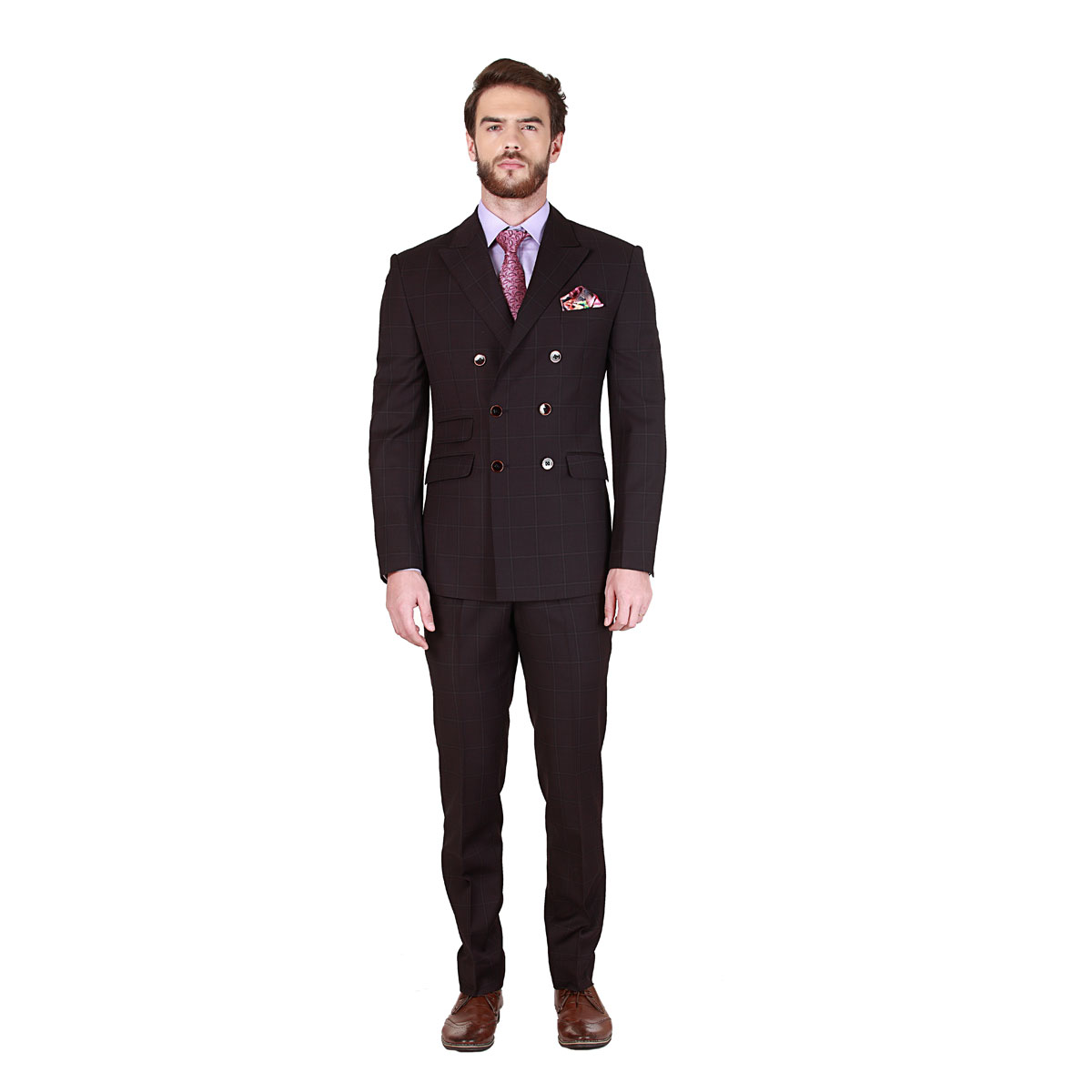 release date unique style world-wide renown Royal Rich Brown Suit